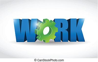 texte, travail, conception, illustration, 3d