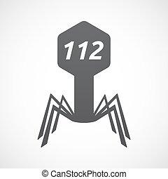 texte, virus, isolé, 112