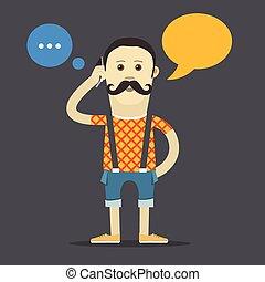 texte, yound, template., conversation, vecteur, hipster, communication, endroit, ton, nuage