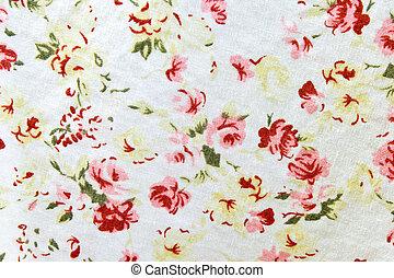 textiel, model, bloem, behang