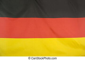 textiel, nationale vlag, van, duitsland