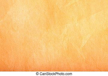 textiel, warme, gele achtergrond
