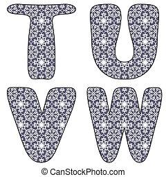 textil, álbum de recortes, alfabeto