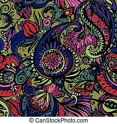 textil, patrón, cachemira
