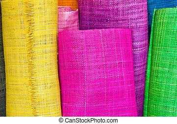 textil, rollos
