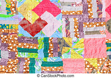 handmade silk patchwork cloth