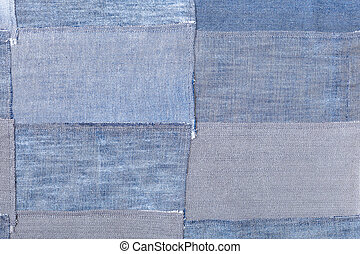 patchwork from denim flaps
