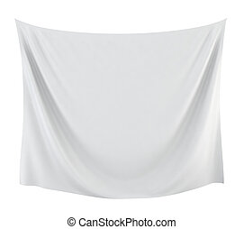 Textile banner. 3d illustration on white background