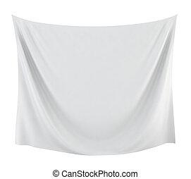 Textile banner. 3d illustration on white background