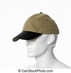 Textile cap isolated on a white background