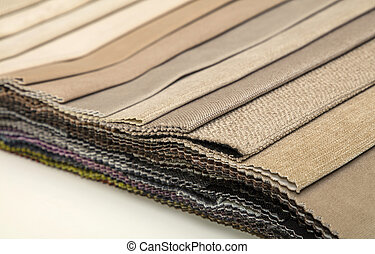 Textile catalogue, colorful fabric samples - Colorful beige...