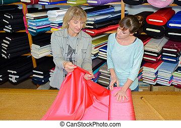textile, concepteur, inspection