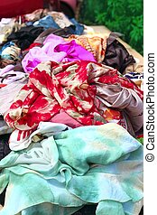 textile fabric colorful market bargain showcase