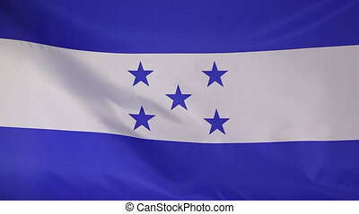 Textile flag Honduras, slow motion - Textile flag of...