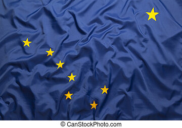 Textile flag of Alaska
