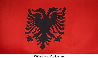 Textile flag of Albania
