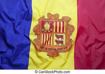 Textile flag of Andorra