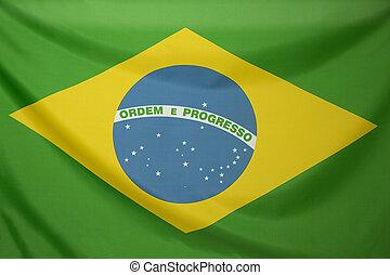 Textile flag of Brazil