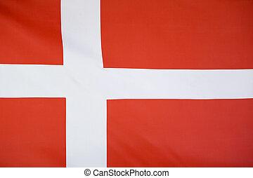 Textile flag of Denmark