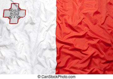 Textile flag of Malta