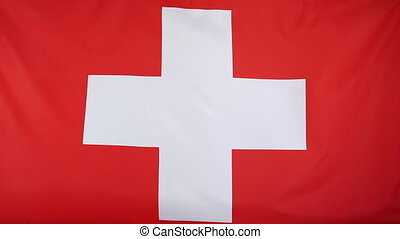 Textile flag of Switzerland