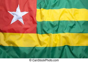 Textile flag of Togo