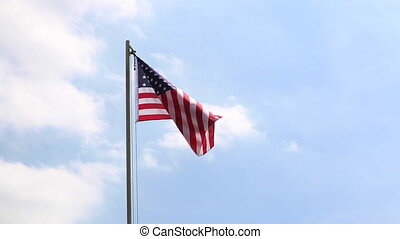 Textile flag of USA