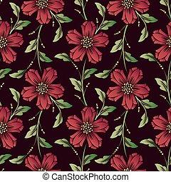 textile, fleur, vieux, classique, élégant, modèle, backgrounds., wrapping., seamless, texture, arrière-plan., vecteur, luxe, façonné, ornement, floral, papiers peints