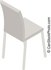 textile, icône, chaise, isométrique, style