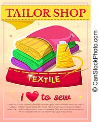 Textile industry design, vector illustaration - Textile...