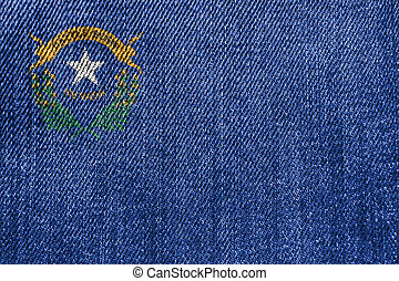 Textile Industry Or Politics Concept: Nevada Flag Denim Jeans