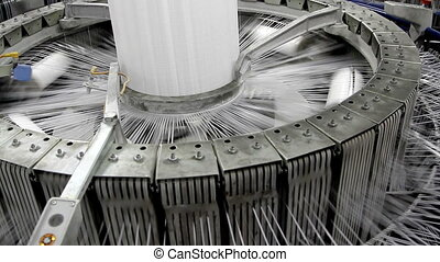 Textile industry - yarn spools