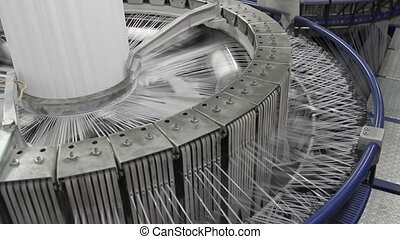 Textile industry - yarn spools on s