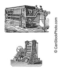 Textile machines for stem strain und dry fabrics