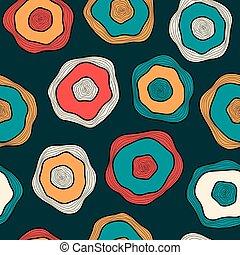 textile, modèle, emballage, seamless, fond foncé, multicolore, vecteur, papier, désordre, gouttes