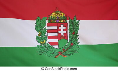 Textile national flag of Hungary