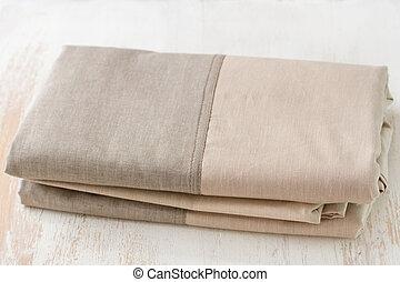textile on white wooden background
