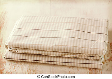 textile on wooden background
