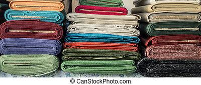 textile, piles