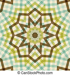 textile plaid background in green, blue, brown