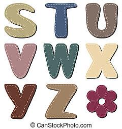 textile scrapbook alphabet