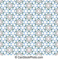 textile stylized hexagonal pattern