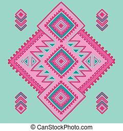 textile, tapis, utilisé, sacré, être, géométrie, américain, shapes., pattern., mexicain, book., coloration, indien, africaine, tribal, motifs, ethnique, impression, ligne, style., boîte