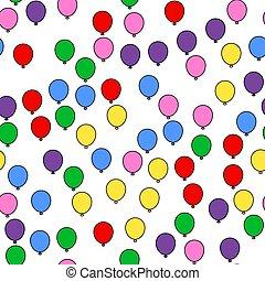 textile, tissu, moderne, illustration., coloré, espace, modèle, balloon, wrapping., impression, seamless, papier, arrière-plan., vecteur, retro, branché, blanc, résumé, decoration., design.