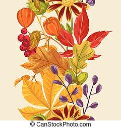 textile, usage, fond, toile de fond, modèle, feuilles, emballage, seamless, automne, papier, facile, plants.