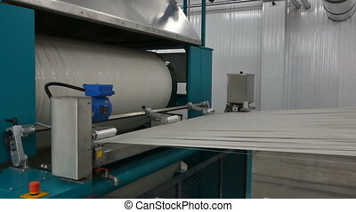 textile yarn processing shop - macro shooting of cotton...