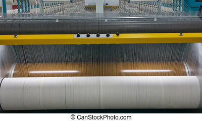 textile yarn processing shop - textile yarn on the wrapping...