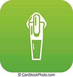 Textile zip icon, simple style