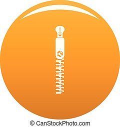 Textile zip icon vector orange