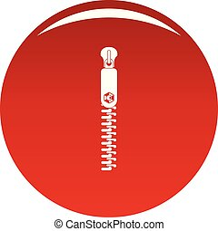 Textile zip icon vector red